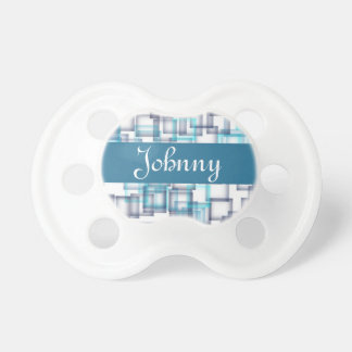 Blue Colored Squares Baby Pacifiers