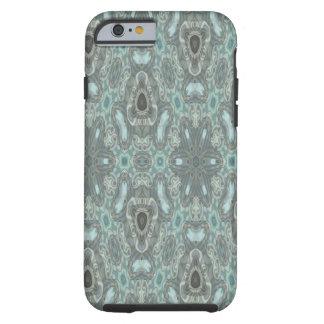Blue colored strange pattern tough iPhone 6 case