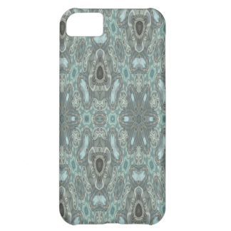 Blue colored strange pattern cover for iPhone 5C