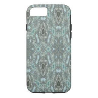 Blue colored strange pattern iPhone 7 case
