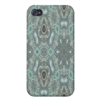 Blue colored strange pattern iPhone 4/4S cases