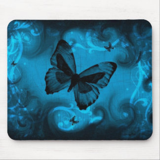 blue colorful butterfly vector art mouse mat