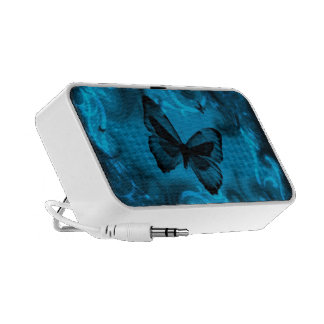 blue colorful butterfly vector art notebook speakers