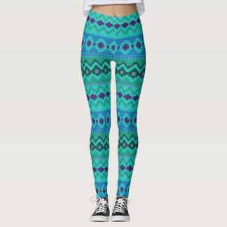Blue Colors Aztec print Leggings