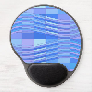 Blue Colors Wavy Rectangles Gel Mouse Pads