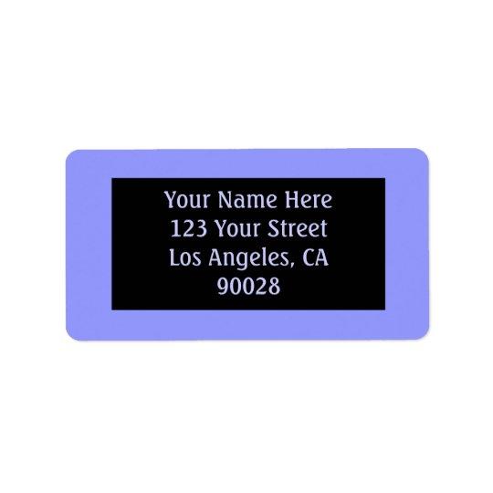 blue colour label