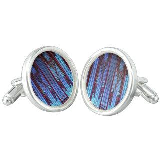 Blue coloured organ pipes cufflinks