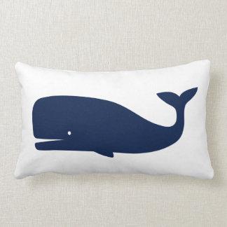 Blue Coloured Whale  - Nautical Lumbar Cushion