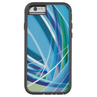 Blue Colourful Lines Background Tough Xtreme iPhone 6 Case