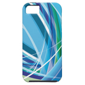 Blue Colourful Lines Background Case For The iPhone 5