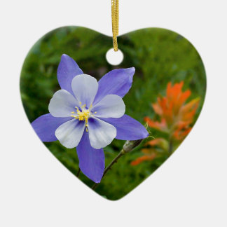 Blue Columbine Christmas Ornament
