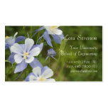Blue Columbine Flowers Graduate Pack Of Standard Business Cards
