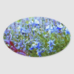 Blue Columbines - Flowers Oval Stickers
