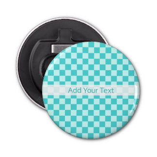 Blue Combination Classic Checkerboard by STaylor Bottle Opener