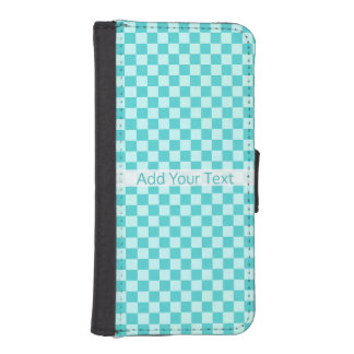 Blue Combination Classic Checkerboard by STaylor iPhone SE/5/5s Wallet Case