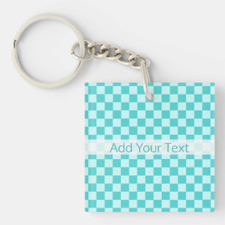 Blue Combination Classic Checkerboard by STaylor Key Ring