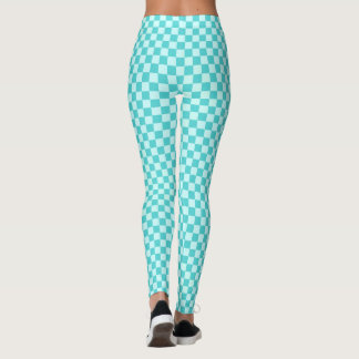 Blue Combination Classic Checkerboard by STaylor Leggings