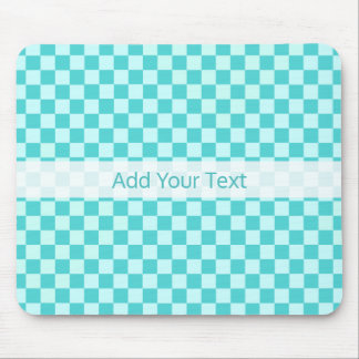 Blue Combination Classic Checkerboard by STaylor Mouse Mat