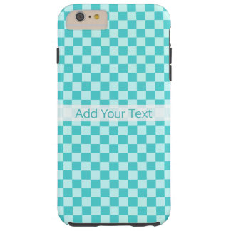 Blue Combination Classic Checkerboard by STaylor Tough iPhone 6 Plus Case
