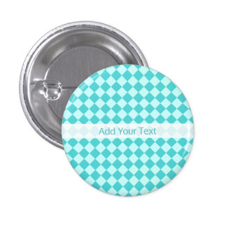 Blue Combination Diamond Pattern by Shirley Taylor 3 Cm Round Badge