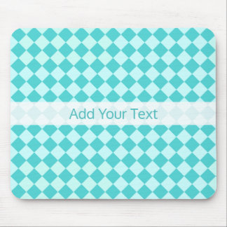 Blue Combination Diamond Pattern by Shirley Taylor Mouse Pad