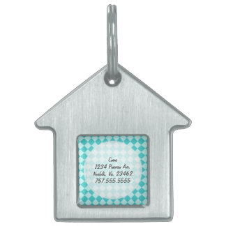 Blue Combination Diamond Pattern by Shirley Taylor Pet ID Tag