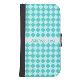 Blue Combination Diamond Pattern by Shirley Taylor Samsung S4 Wallet Case