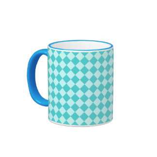 Blue Combination Diamond Pattern Mug