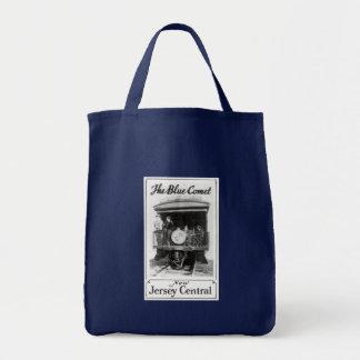 Blue Comet Train Grocery Tote Bag