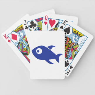 Blue Comic Fish Bicycle Poker Cards