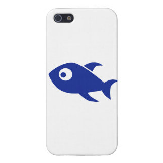 Blue Comic Fish Covers For iPhone 5