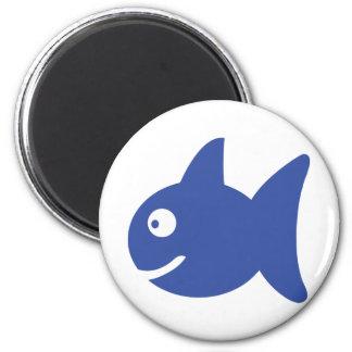 blue comic fish magnets