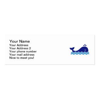 Blue comic whale business card templates