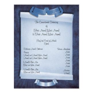 Blue Commitment Ceremony Custom 2-Sided Program 21.5 Cm X 28 Cm Flyer