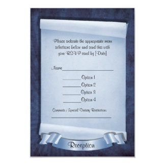 Blue Commitment Ceremony Custom Reception Cards 9 Cm X 13 Cm Invitation Card