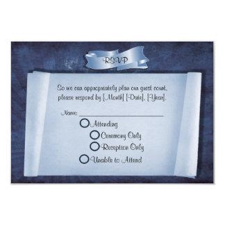 "Blue Commitment Ceremony Custom RSVP Cards 3.5"" X 5"" Invitation Card"