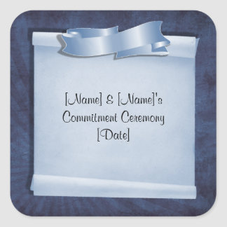Blue Commitment Ceremony Custom Stickers