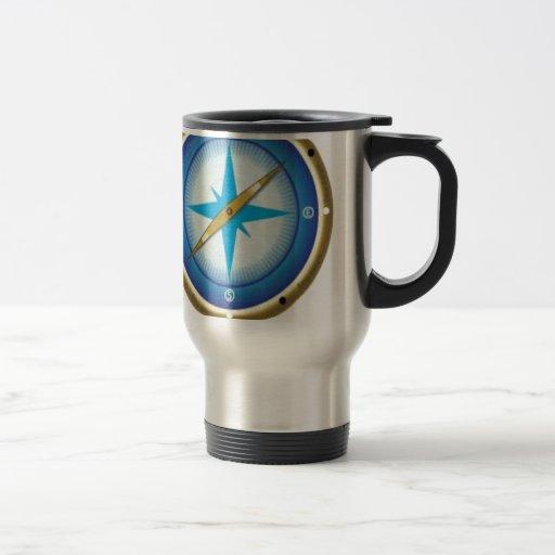 Blue compass mug