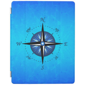 Blue Compass Rose iPad Cover