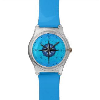 Blue Compass Rose Wristwatches