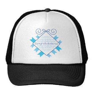 Blue Congratulations Hat
