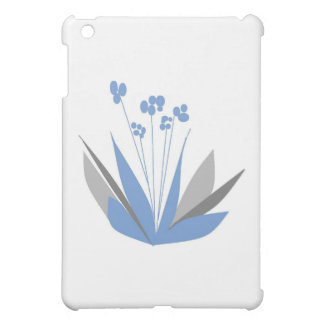 Blue Contemporary flowers Case For The iPad Mini