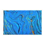 Blue contour background gallery wrapped canvas