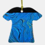 Blue contour background ornament