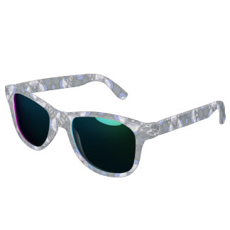 blue cool abstract Flower Pattern Sunglasses