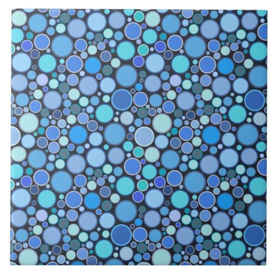 Blue cool bubbles pattern tile