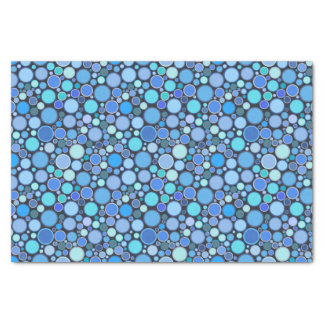 Blue cool bubbles pattern tissue paper