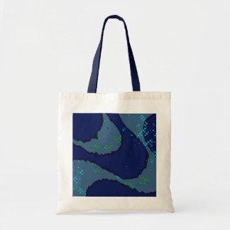 blue Copacabana sidewalk Budget Tote Bag