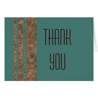 Blue & Copper Thank You Note Greeting Card