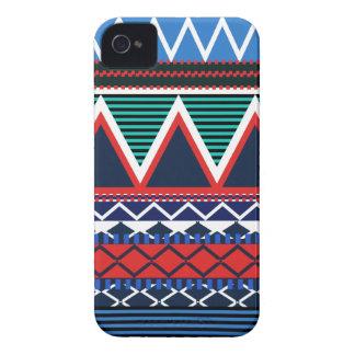 Blue & Coral Modern Tribal Case-Mate iPhone 4 Case